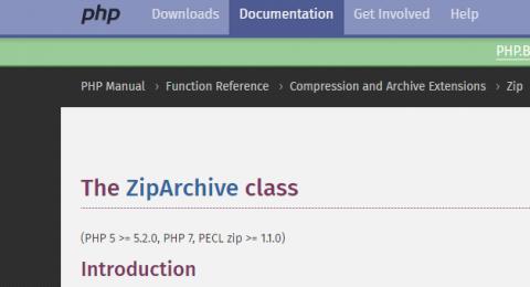 wordpress导出个人数据提示zipArchive不可用解决