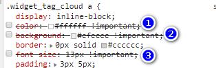 WordPress修改标签云大小及颜色-打不死的小强